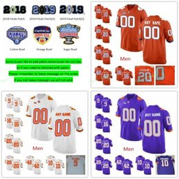 Wholesale college tees for sale – custom Custom Clemson Tigers College Tee Higgins Christian Wilkins Tanner Muse Dexter Lawrence T J Chase Ross Choice Cotton Bowl Jerseys