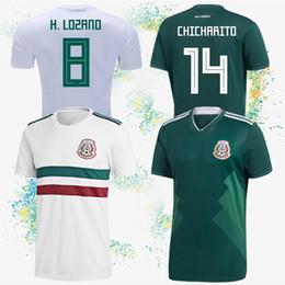 deba6be7a8c Mexico soccer jersey 22 H. LOZANO 2018 world cup Jerseys 14 CHICHARITO 7  M.LAYUN Mexico 10 G. DOS SANTOS Customizable football suit