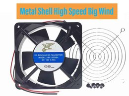 dc axial cooling fan UK - Metal Shell Ball Axial Fan, YSF12025 Series, 12V, 24 V, DC, 120 mm, 25 mm, High Performance Cooling Fan,Computer Case Fans,Cooling Fans for