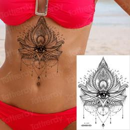 $enCountryForm.capitalKeyWord Australia - Body Art Temporary Tattoo Sexy Non-Toxic Mandala Lotus Tattoos Sticker For Women tattoo Black Mehndi Stickers Henna Fake Tatoo