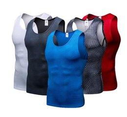 sport tight clothes Canada - Compression Tights Gym Tank Top Quick Dry Sleeveless Sport Shirt Men Gym Clothing For Summer Cool Men's Running Vest