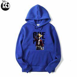 $enCountryForm.capitalKeyWord UK - 2019 Fashion New Brand Pirate King Straw Hat Lufei Printing Mens Hoodies High Quality Loose Hooded Long Sleeve Sweatershirt Men