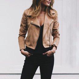 $enCountryForm.capitalKeyWord Australia - 2018 New Women Lapel Diagonal Zipper Leather Coats Fashion Ladies Slim Short Solid Color Coat Panelled Female Cool Jacket