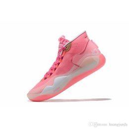 $enCountryForm.capitalKeyWord Australia - Cheap womens kd 12 basketball shoes Pink Aunt Pearl Brown White Boys Girls youth kids lebron 16 kevin durant xii sneakers boots with box