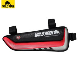 Discount top road bike accessories - WILD MAN Road Bicycle Bag Rainproof Top Tube Bike Triangle Bag 1L Reflective Repair Tool Cycling Accessories