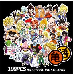 3d Dragon Stickers Australia - New Dragon Ball Z Graffiti Sticker Personality Luggage DIY stickers cartoon PVC Wall stickers accessories 100pcs set