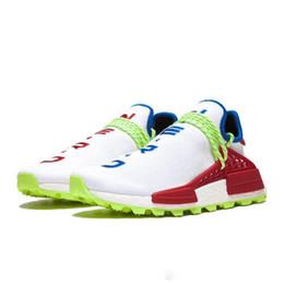 $enCountryForm.capitalKeyWord Australia - hu human race Mens Tennis Womens Running Shoes sample Yellow PHARRELL WILLIAMS PW triple white black designer shoes breathable trainers 4 19