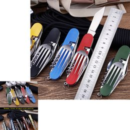 $enCountryForm.capitalKeyWord Australia - 10pcs Multifunctional Folding Detachable Combination Outdoor Hunting Camping Knife Gift Fruit Knife Accessories Portable Outdoor Gadget