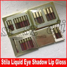 Stay Lipsticks Australia - Stila Star-studded Eight Stay All Days Liquid Lipstick set Eye For Elegance Glitter Liquid EyeShadow 3pcs 6pcs 8pcs