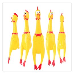 $enCountryForm.capitalKeyWord Australia - Party Supplies Screaming Rubber Chicken Yellow Shrilling Bite Resistant Squeeze Toy A Perfect Gift for Birthday and Festivals Funny