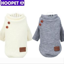 chihuahua sweaters wholesale Australia - HOOPET Pet Dog Clothes Knitted Button Sweater Fall Winter Small Dog Cat Clothes Knit Chihuahua Boutique Clothing Dog Apparel