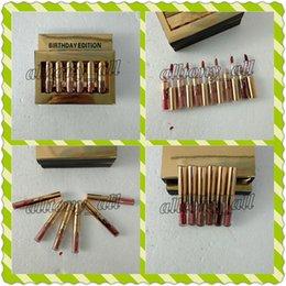 kylie cosmetics lip kit 2018 - NEW Gold Kylie lipgloss Cosmetics Matte Lipstick Lip gloss Mini Leo Kit Lip Birthday Limited Edition with gold retail pa