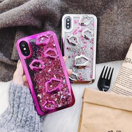 $enCountryForm.capitalKeyWord Australia - Fashion quicksand Marilyn Monroe lips sand soft phone shell anti-fall for iphone8 iphone X