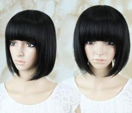 $enCountryForm.capitalKeyWord Australia - WIG LL NEW STYLE Free Shipping >>>Women's Sexy Short Bob Hair Heat Resitant Wigs Costume Ladies Black Wig Party