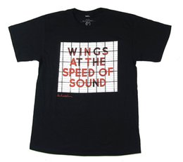 $enCountryForm.capitalKeyWord NZ - Paul McCartney Wings Speed Of Sound Black T Shirt New Official Merch Funny free shipping Unisex Casual gift