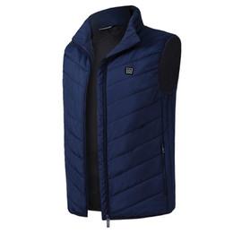 Electric Hot Warmer Australia - Men Women Electric Heated Vest Heating Waistcoat 2018 New USB Thermal Warm Cloth Feather Hot Sale Winter Jacket