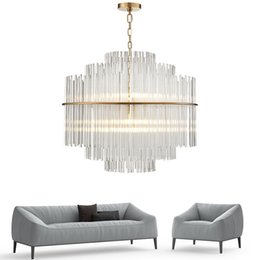 $enCountryForm.capitalKeyWord UK - Modern Chandelier Lighting Luxury Living Room Glass Rod Hanging Light Round Luxury Home Decoration Crystal Lamps UPS