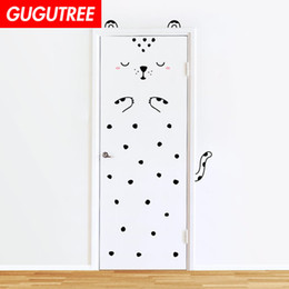 $enCountryForm.capitalKeyWord Australia - Decorate Home 3D cats animal cartoon wall door sticker decoration Decals mural painting Removable Decor Wallpaper G-811