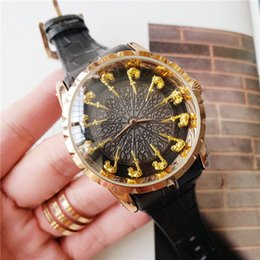 12 mens watches Australia - Designer 12 Round Table Knight Luxury Mens Watch 45mm Top Quality Fashion Watches Leather Strap Vintage Clock orologio di lusso