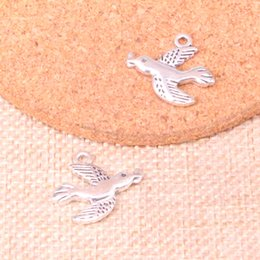 silver swallow charms Australia - 100pcs Antique Sliver swallow Charm Pendant DIY Necklace Bracelet Bangle Findings 21*19mm