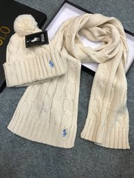 Boys Hats Stars Australia - 2019 Top Quality Celebrity design Letter Woolen Scarf Hat Men Woman Cashmere wool Fox hair ball hat 2pc 538561 3HE25 1080 008