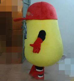 Discount potato mascot - SX0723 100% real photos of big yellow potato mascot costume for adult to wear for sale