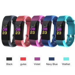 ID115 Plus Smart Wristband Braccialetto Heart Rate LED Monitor della pressione sanguigna Monitor a colori Pedometro Fitness Tracker per iPhone Android Top in Offerta