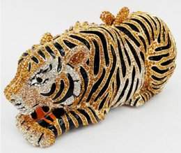 Crystal animal evening bags online shopping - Animal Tiger Luxury Crystal Evening Bag Leopard Cocktail Party Purse Handbags Women Clutch bags Purse