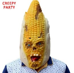 $enCountryForm.capitalKeyWord Australia - Corn Monster Full Head Mask Scary Adult Realistic Laetx Party Mask Halloween Fancy Dress Party Masquerade Masks Cosplay Costume