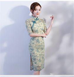 "$enCountryForm.capitalKeyWord Australia - ""Medi Lace Dress Women 2019 New Summer Fall Vintage Elegant Sheer Lace Dresses Students Slim Bodycon Chinese Dress N19.7-2034"""