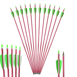 archery arrows aluminum Australia - 12 pcs Archery Aluminum Arrows Recurve Bow and Compound Bow Aluminum Arrows for Outdoor Practice or Hunting