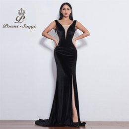 Good eveninG dresses online shopping - Poems Songs New style sexy impressive good looking attractive Evening Dress prom gowns vestido de festa Formal Party