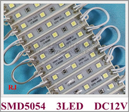 Wholesale super bright SMD 5054 LED module LED back light backlight module for sign letter DC12V 3led 3*0.4W 1.2W 150lm IP66 waterproof