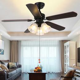 $enCountryForm.capitalKeyWord Australia - Black Vintage Ceiling Fan With Lights Remote Control Ventilador De Techo 220 Volt Bedroom Ceiling Light Fan Lamp E27 Bulbs