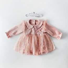 $enCountryForm.capitalKeyWord NZ - Girls Infant Stars Tutu Bow Baby Rompers Candy Color Birthday Party Spring Autumn Toddler Romper