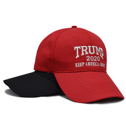 Chinese  Designer Donald Trump 2020 Cap Keep America Great Letter Embroidery Cotton Curved Baseball Caps Adults Mens Womens Sport Hats Sun Visor manufacturers
