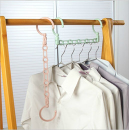 japan clothes wholesalers Australia - Clothes Hanger Connecting Strip with 5 holes colorful green pink blue hanging organizers hangers good for small space #126