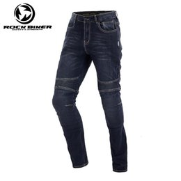 motocross jeans NZ - ROCK BIKER Vintage Summer Motorcycle Trousers Men Racing Moto Sports Pants Equipamento de Motocross Motorcycle Jeans pants
