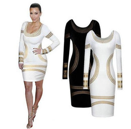 Chinese  Spring Solid Color Long Sleeve Jacket European and American women's new sexy long-sleeved slim dress hot stamping long-sleeved dress manufacturers