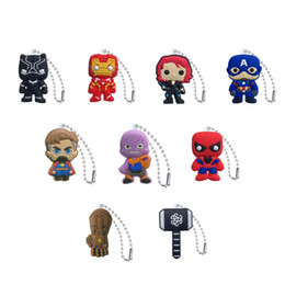 $enCountryForm.capitalKeyWord NZ - Avenger Superhero Charm Ball Chain PVC Keychain Key Ring Anime Key Chain Fashion Accessories Packed Kawaii Party Favors Kids Gift