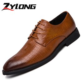 mens dress shoes size 38 NZ - Men Dress Shoes Plus Size 38-46 Leather Shoes Mens Formal Pointed Toe Men Wedding Party Office Brown Black