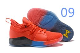 d9a714a27f120 2019 newS sale Paul George 2 PG II Basketball Shoes top PG2 2S Starry Blue  Orange All White Black Sports Sneakers Size 40-46 zfmall