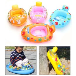 wholesale float ring 2019 - Swimming Pool Baby Safety Inflatable Ring Swim Float Summer Water Fun Pool Toys Swim Ring Seat Boat Inflat Wheels Water