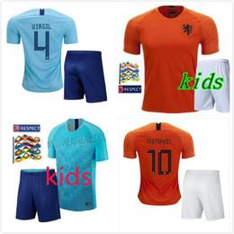 in stock!kids kit 2018 new Nederland soccer jersey 1819 home orange  netherlands HOLLAND ROBBEN SNEIJDER V.Persie Dutch away football shirts 51bc391da