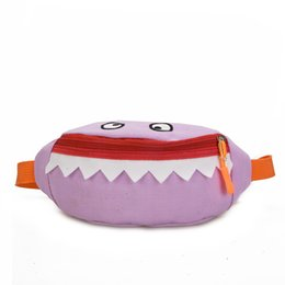 Wholesale Little Devil Shark Waist Bag Chest Mini Cartoon Canvas Children Outdoor Coin Purse Storage Bags Hot Sale myE1