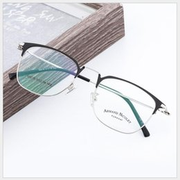 Glasses eyebrows online shopping - New Myopia Frame Metal Glasses Brand Men and Women Eyebrow Glass Frame Retro vintage