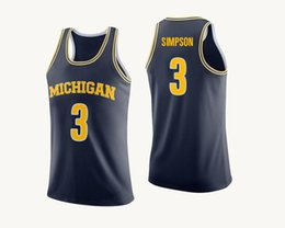 f7362cfcb85 Zavier Simpson Stitched White Rico Ozuna-Harrison Yellow Poole  2 Navy Mens  Michigan Wolverines Player College Jersey