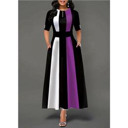 Club swing online shopping - Plus Size Womens Vintage Swing Dress Ladies Half Sleeve Party Skater Dresses UK