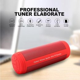 portable waterproof stereo wireless bluetooth speaker UK - Bluetooth Portable Waterproof Speaker 10w Wireless Bluetooth Speaker T3 Bass Stereo Column Multifunction Loudspeaker with Fm Mic