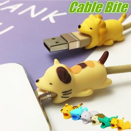 cute carton animals 2019 - Hot Sale Animal Bite Protector For iPhone Android USB Cable Anti-breaking Charger Protection With 36 Designs Cute Carton